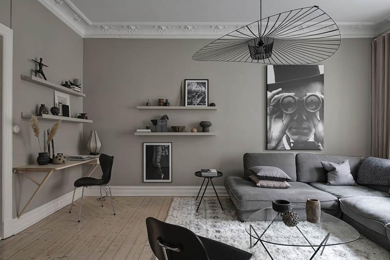 طراحی دکوراسیون داخلی بژ خاکستری